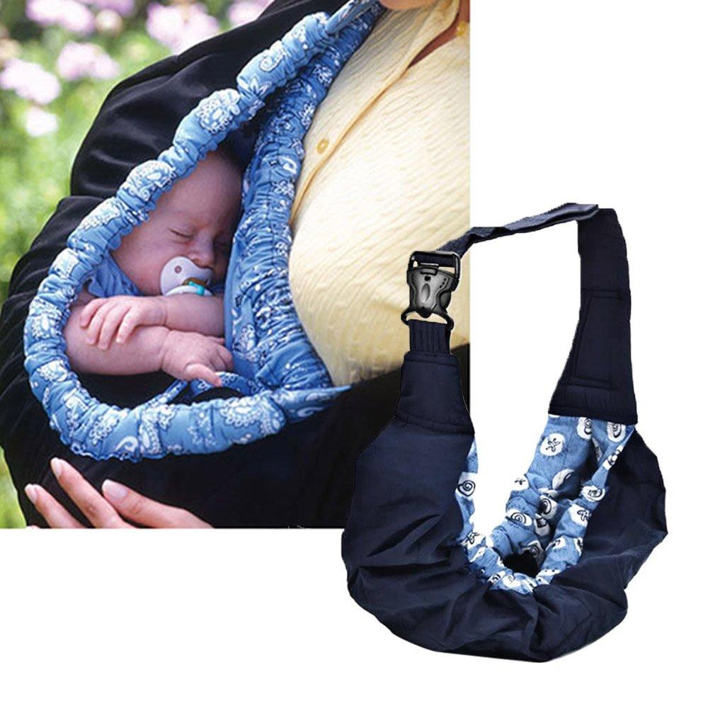 Gosear Baby Baumwolle Einstellbar Carrier Babytragetuch Tragehilfe Babytr/äger Wrap Bauchtrage A