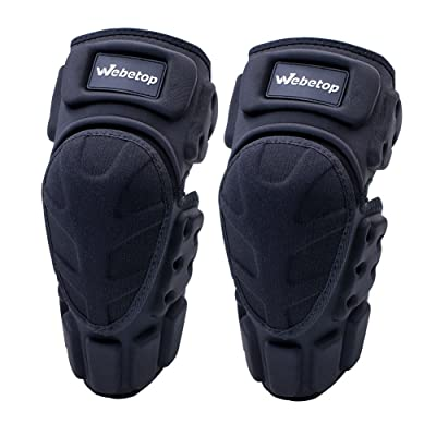 Webetop Motorcycle Elbow Guards Motocross Pads Dirt Bike Protective Gear Adjustable For Adult Black: Automotive
