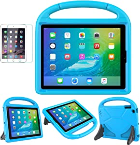 iPad 2/3/4(9.7 inch,Old Model) Case for Kids - SUPLIK Durable Shockproof Protective Handle Bumper Stand Cover with Screen Protector for Apple iPad 2nd,3rd,4th Generation, Blue
