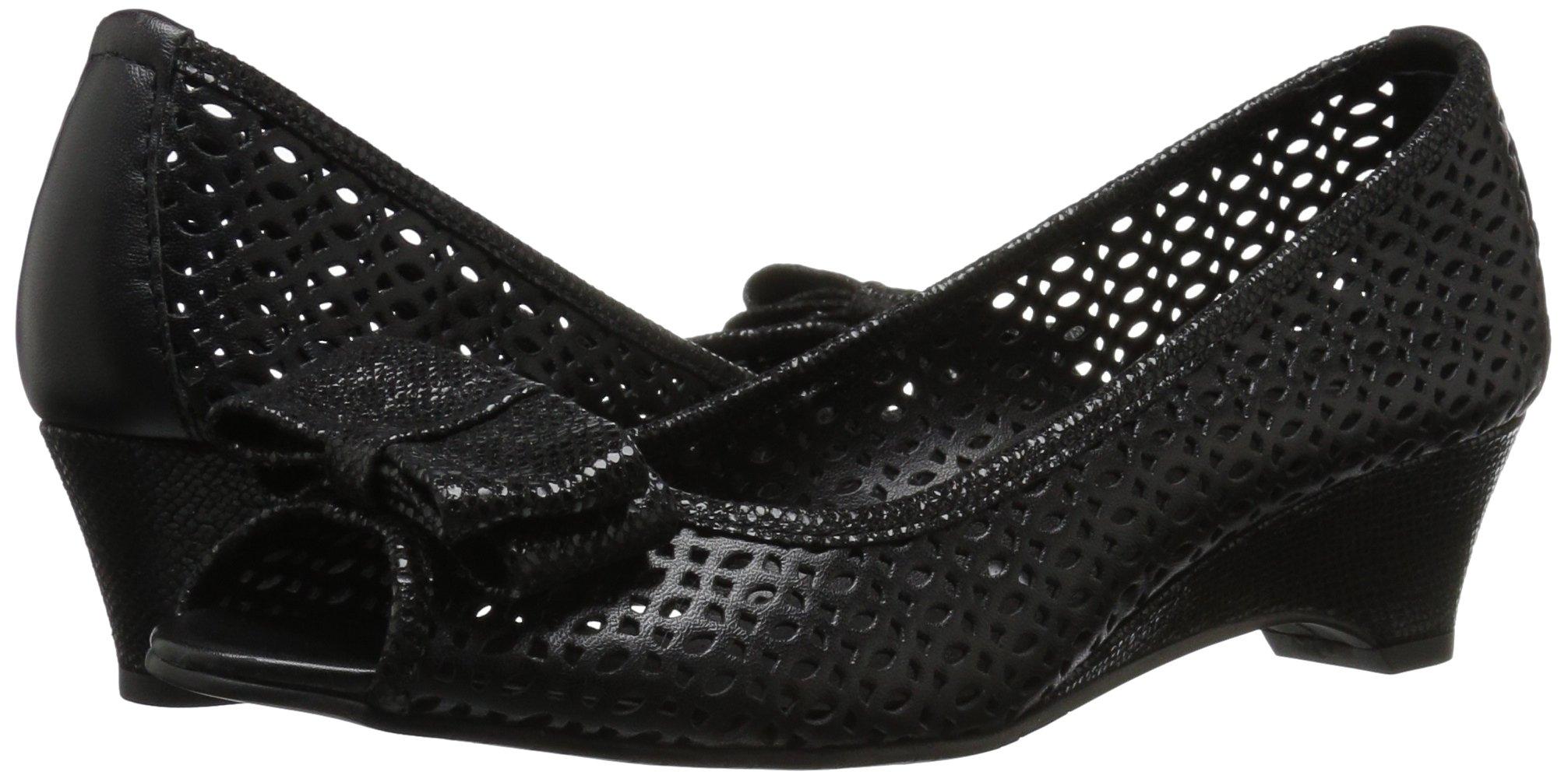 VANELi Women's Brinly Wedge Sandal, Black Perfed Nappa/Black Summer VIP, 9.5 N US by VANELi (Image #6)