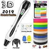 Stylo 3D Lovebay 3D Professionnel Pen Set Stylo d'Impression 3D avec Ecran LCD+12 Multicolores Filament PLA Φ1,75 mm,Chaque 3,1M, Total 120 pieds, Meilleur Cadeau - Stylo 3d pour Enfant et Adulte【2019 Dernière version 】