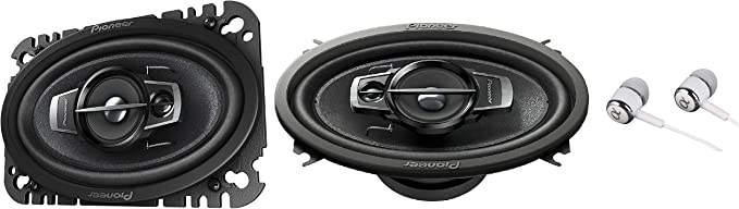 "Pioneer TS-A4676R 200W Max 4 x 6/"" 3-Way TS-A Series Coaxial Car Speakers"