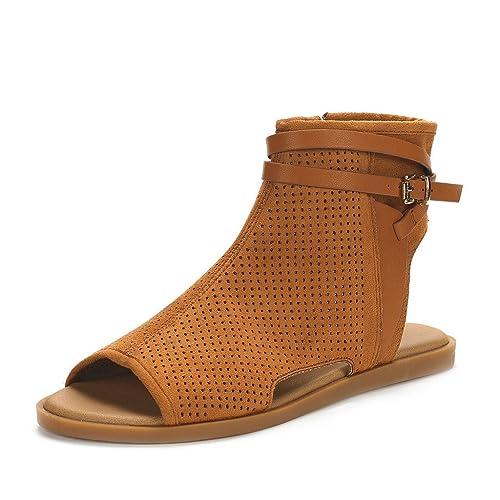 62517cbea5e DREAM PAIRS Women s RUULE Fashion Open Toe Flat Sandals  Amazon.ca  Shoes    Handbags