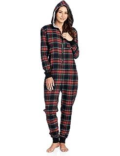 3edd3ca72757 Amazon.com  Ashford   Brooks Women s Fleece Hooded One Piece Pajama ...