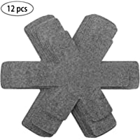 Pot and Pan Protectors, Set of 12 and 3 Different Size, Pot Dividers Pads/Stacking Pan Protectors/Pan Separators Pads for Protecting and Separating Pots and Pans