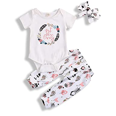 c043530f7 Toddler Baby Boy Girl Summer Clothes Print Romper+Pants Outfits Short  Sleeve Clothing Set (
