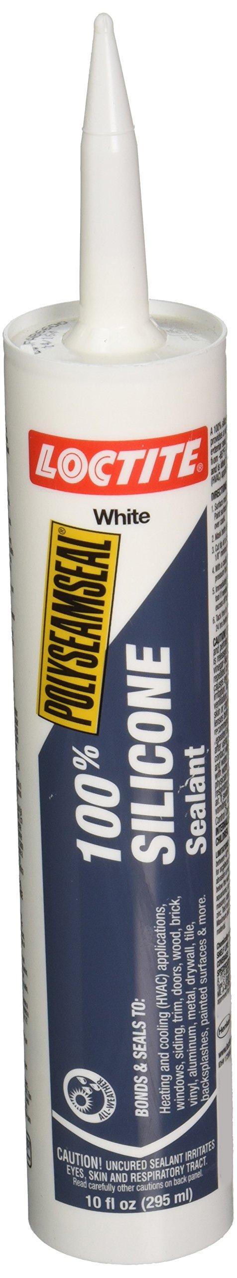 Loctite 1508975 White Polyseamseal 100% Silicone Sealant Tube, 10 oz