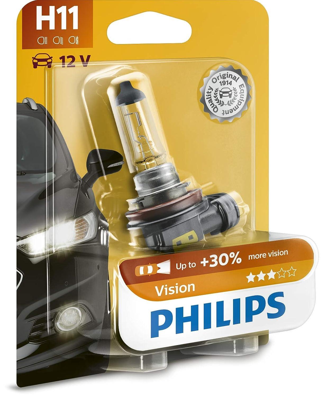 Philips 12362PRB1 Vision - Bombilla H11 para faros delanteros (1 unidad): Amazon.es: Coche y moto
