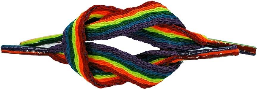 TZ Trading - Cordones de zapatos unisex Multicolor arcoiris: Amazon.es: Zapatos y complementos