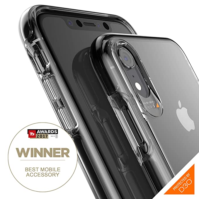 check out eef69 04f31 Gear4 Piccadilly Clear Case with Advanced Impact Protection [ Protected by  D3O ], Slim, Tough Design Compatible with iPhone XR - Black