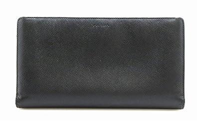 a87ddd2b2f92 [プラダ] PRADA トラベルケース サフィアーノ トラベルウォレット ラウンドファスナー SAFFIANO 二つ折り 長財布