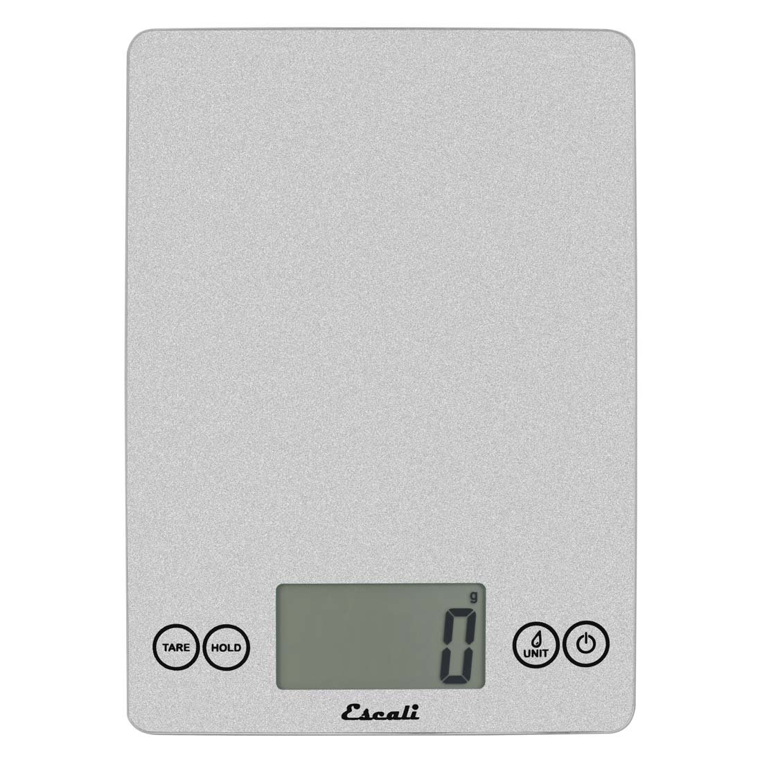 "Escali 157SS Arti Glass Digital Scale, 9"" x 6.5"" x 0.75"", Shiny Silver"