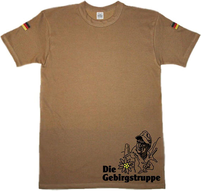 La Fuerza De Montaña Montaña Cazadores inoxidable Blanco Escudo Emblema Logo Camiseta de buceo Original Después de camisa de buceo TL nuevo isaf KSK Bundeswehr Camiseta: Amazon.es: Ropa y accesorios