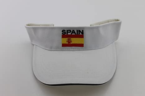 De Media/Sport Cap España Color Blanco con Cierre de Velcro: Amazon.es: Deportes y aire libre