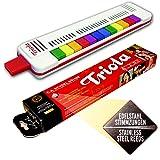 Seydel TRIOLA 12 AUSFÜHRUNG s bewährten, haltbaren Edelstahl-STIMMZUNGEN !- das Blasinstrument für Kinder mit Spielanleitung + 3 Kinderliedern mit bunten Noten zum Schnelleinstieg