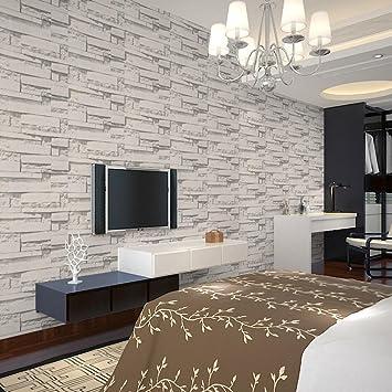 hongxin self adhesive 3d paper background simulation vein rock stone pattern brick wallpaper restaurant decoration