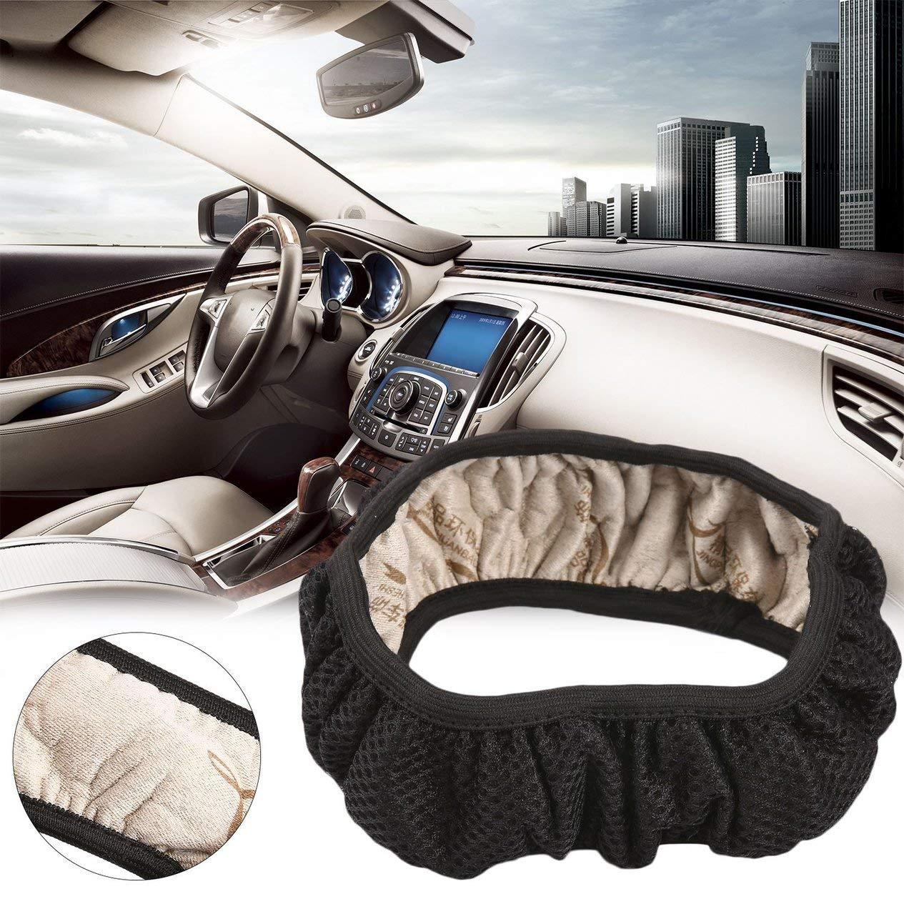 Funda universal antideslizante para volante de coche antideslizante hecha a mano alta elasticidad para decoraci/ón de veh/ículos EdBerk74