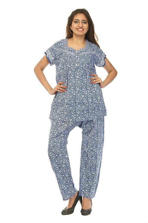 Amazon.com: creativegifts algodón ropa de noche conjunto de ...