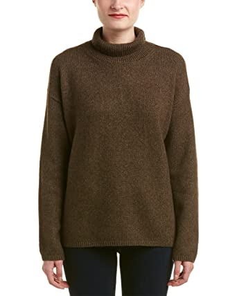 Amazoncom Vince Womens Wool Blend Turtleneck Dark Brown Sweater