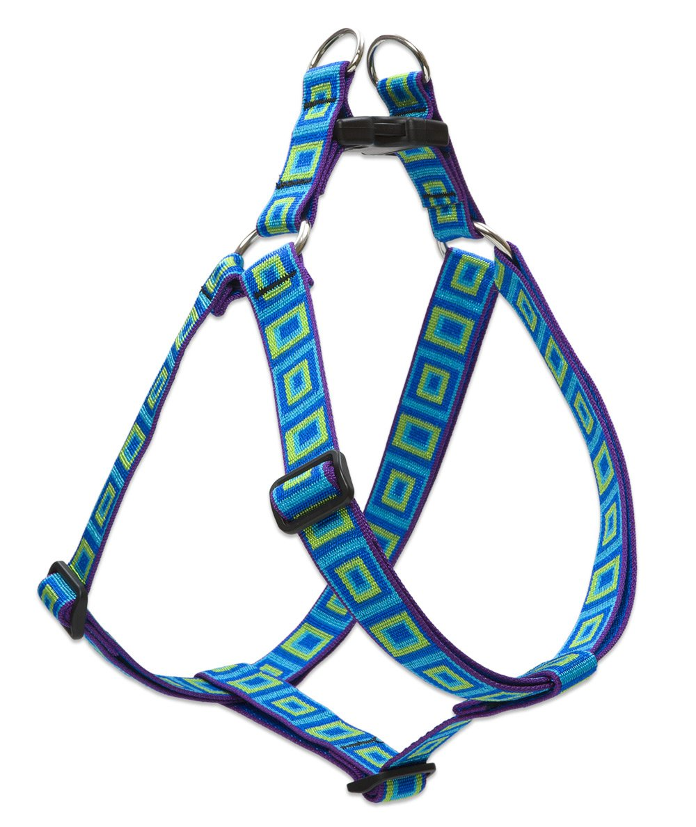 LupinePet Originals 1'' Sea Glass 24-38'' Step In Harness for Large Dogs