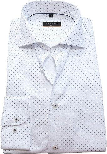 eterna - Camisa de manga larga Slim Fit color blanco con ...