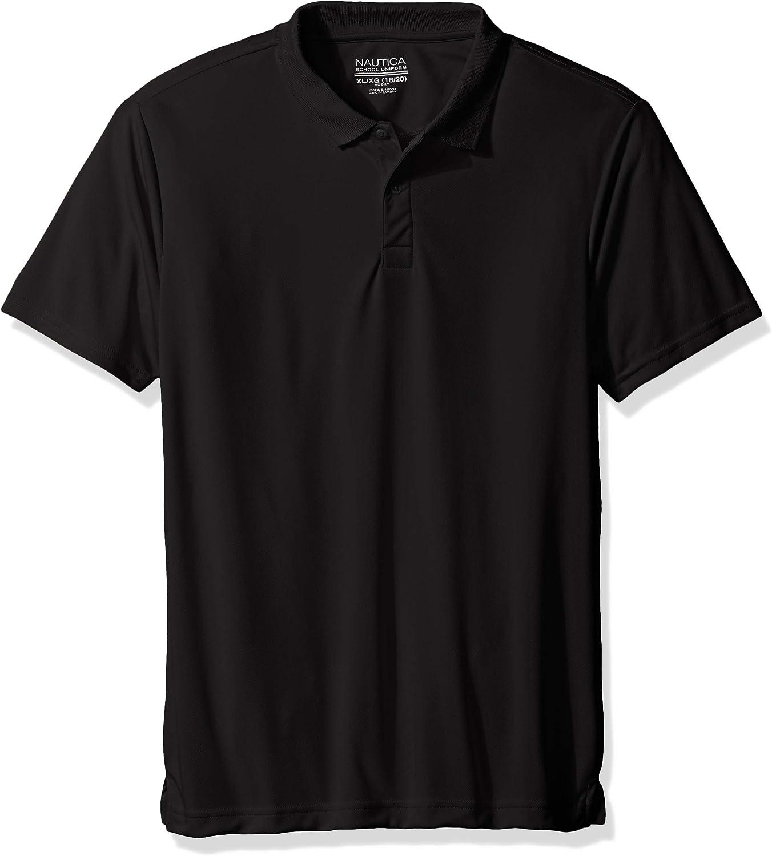 Nautica Boys Uniform Short Sleeve Performance Polo School Uniform Polo Shirt