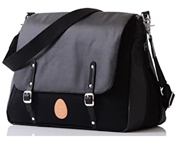 c7f2f4397db1c Amazon.com : PacaPod Prescott Black Designer Baby Changing Bag : Baby