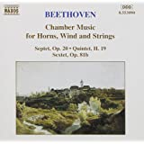 Beethoven: Chamber Works for Horns, Wind and Strings. (Septet in E flat. etc).