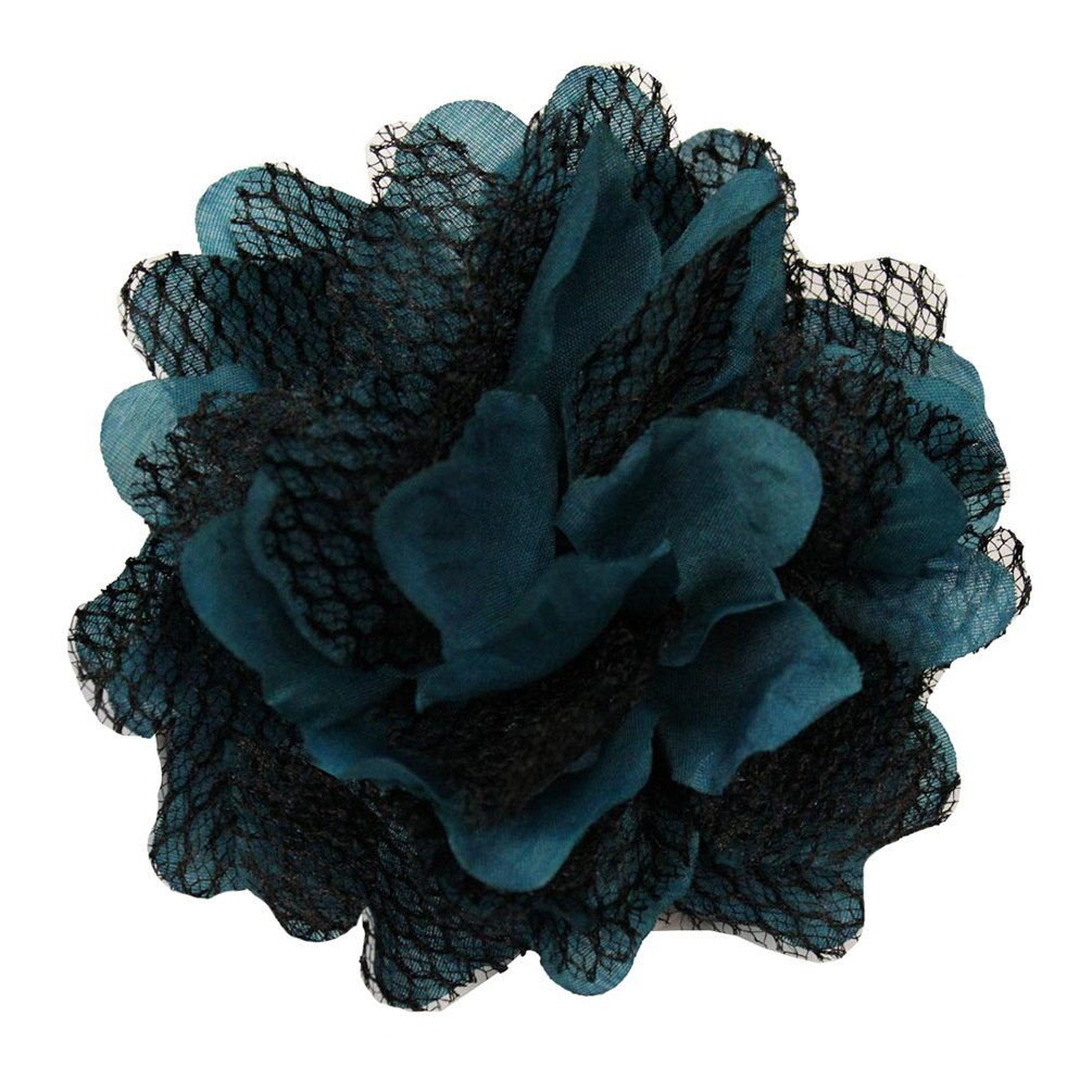 Cheap Wd2u Extra Large Gothic Mesh Lace Rose Silk Flower Hair Clip