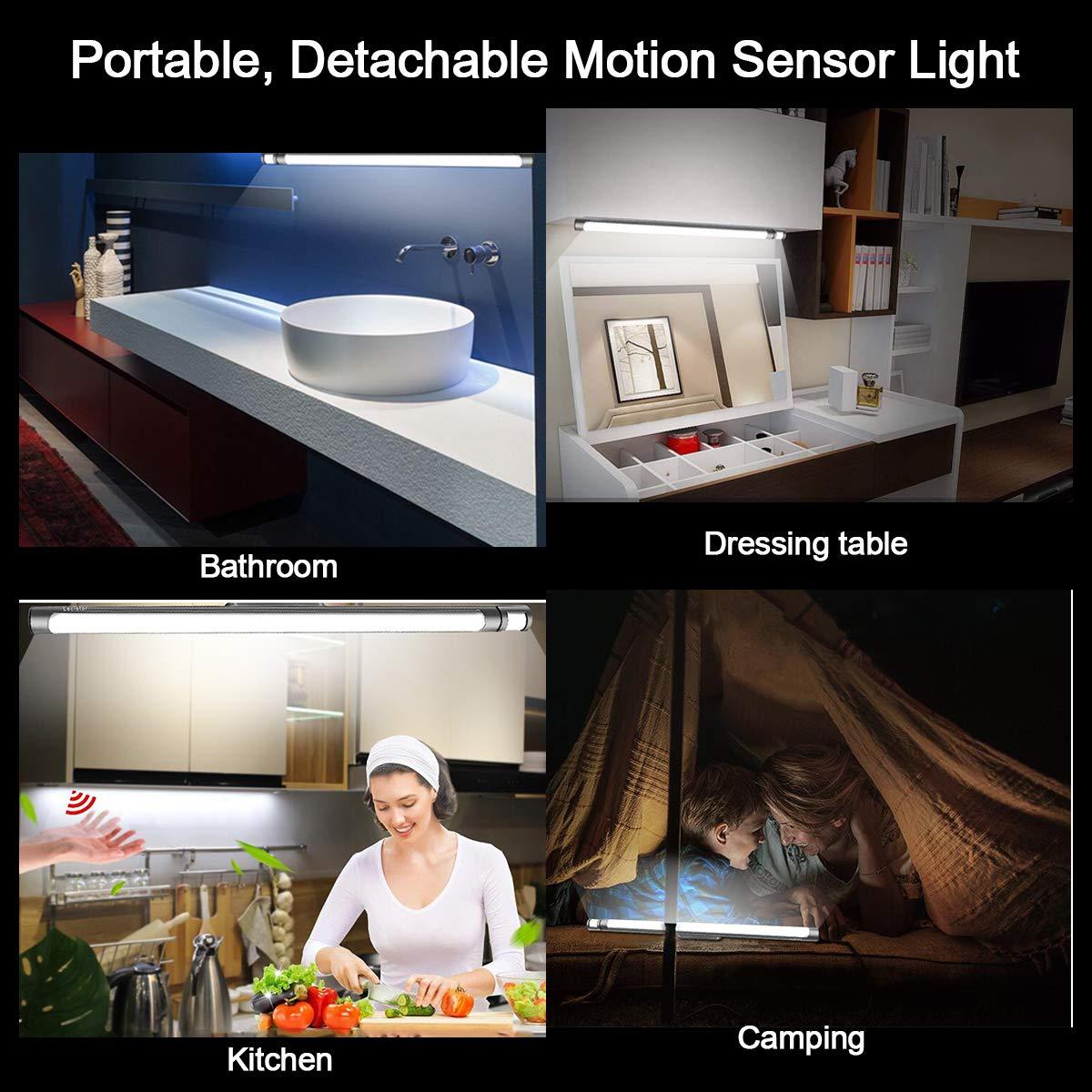 LECLSTAR Motion Sensor Closet Lights for Under Cabinet Lighting,51 LED Wireless Closet Lights Battery Operated Motion Sensor Closet Light Motion by LECLSTAR (Image #5)