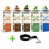 50ml E-Liquid - 5 Flaschen mit je 10ml Liquid für E-Zigaretten - inklusive ein kostenloses Nox24 Halsband (EGO) - ohne Nikotin - Set: (Spezial)