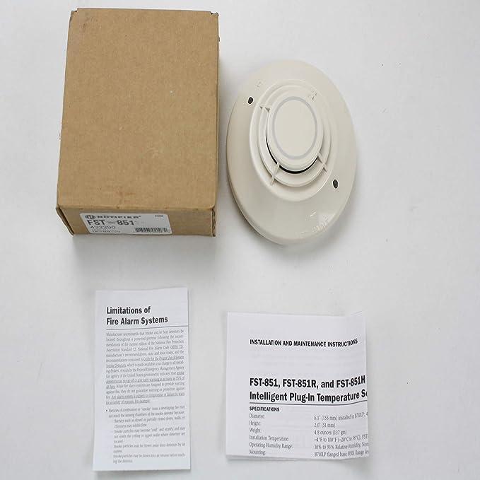 notificador Honeywell fst-851 inteligente Independiente plug-in térmico sensor de detector de calor: Amazon.es: Bricolaje y herramientas