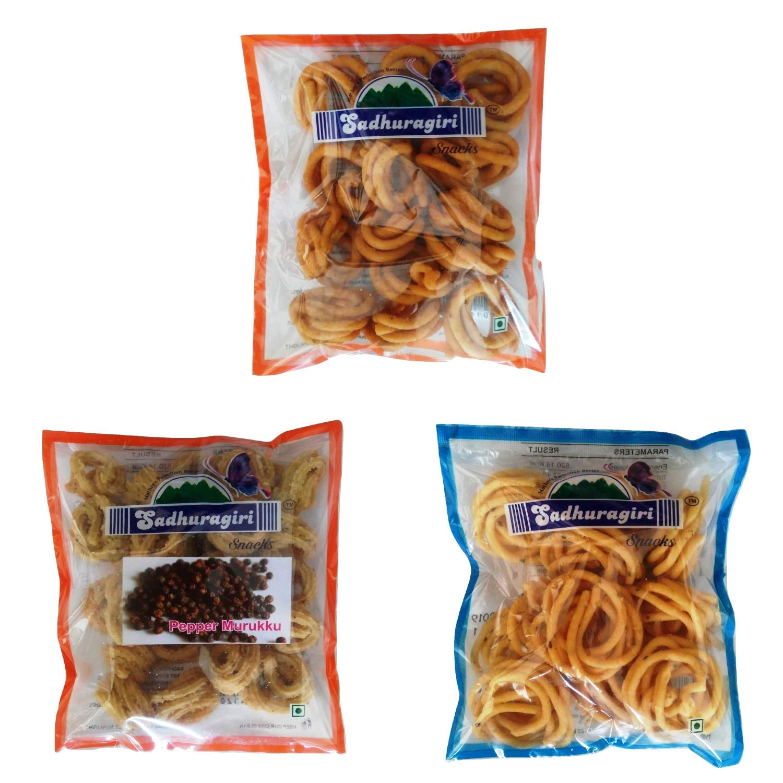 Sadhuragiri Combo Flavour Theni Muruku (120g x Pack of 3) - Combo 37