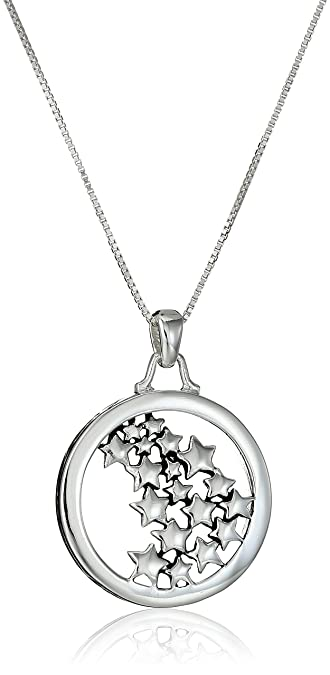 Amazon sterling silverlive your own life follow your own star amazon sterling silverlive your own life follow your own star multiple star pendant necklace 18 jewelry aloadofball Images