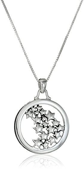 Amazon sterling silver live your own life follow your own sterling silver quotlive your own life follow your own starquot multiple star pendant aloadofball Choice Image