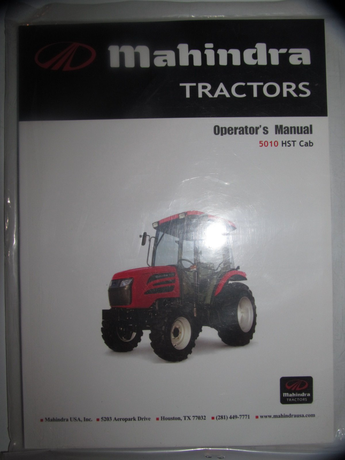 mahindra 5010 hst with cab tractor operators owners manual original rh amazon com Mahindra 6000 Tractor Service Manual 5330 Mahindra Tractor Service Manual