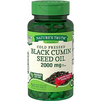 Amazon.com: Aceite de semillas de comino negro 2000 mg | 50 ...