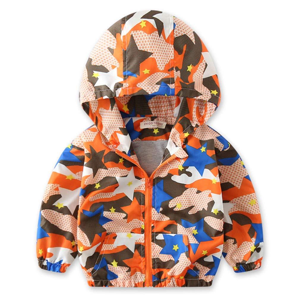 ZODOF Los niños Lindos Imprimen el Abrigo de otoño Jacket Thin Coat Bear Impreso con Capucha de Manga Larga Outwear Primavera Otoño Baby Top