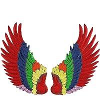 1 par de parches de lentejuelas con alas