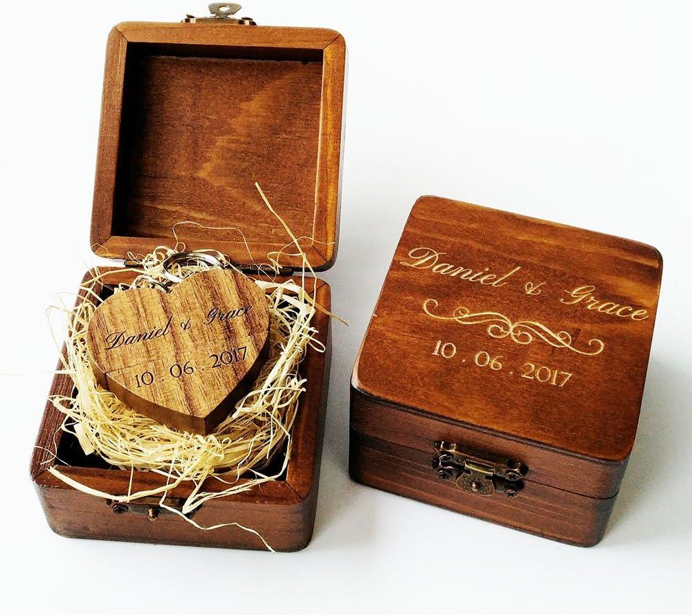 Wooden USB 3.0 Wedding Flash Drive Personalized Custom engraved 8GB 16GB and 32 GB  Walnut Wood