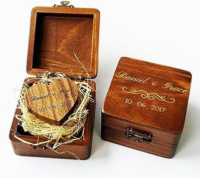 Business Promotional Gift Wedding Photo Storage Gift Engraved Wood USB Drive Custom Wooden Box USB with Wooden Box Personalized Custom Wooden Heart Shaped Walnut 16GB USB Flash Drive