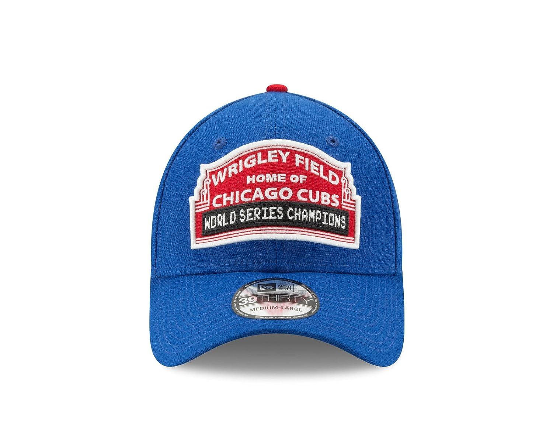 1f0338e8958 Amazon.com   New Era Chicago Cubs 2016 World Series Wrigley Field  Medium Large Flex Fit Championship Hat   Sports   Outdoors