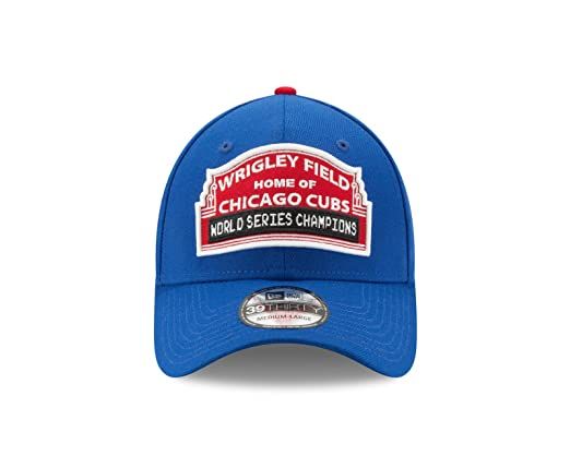 6a0eb5814ae Amazon.com   New Era Chicago Cubs 2016 World Series Wrigley Field  Medium Large Flex Fit Championship Hat   Sports   Outdoors