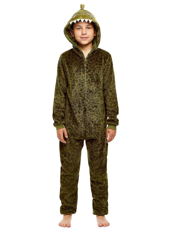 Boys Pajamas | Plush Zippered Kids Onesie Blanket Sleeper