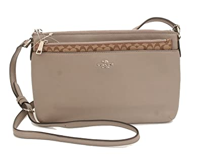 75aa4031496aa5 Image Unavailable. Image not available for. Color  COACH East West Crossbody  With Pop Up Pouch