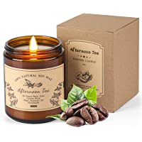 Coffee Vanilla Scented Candle, Premium Soy Candles 50 Hours Burn Relaxing Aromatherapy Candle, Delicious Aroma of…