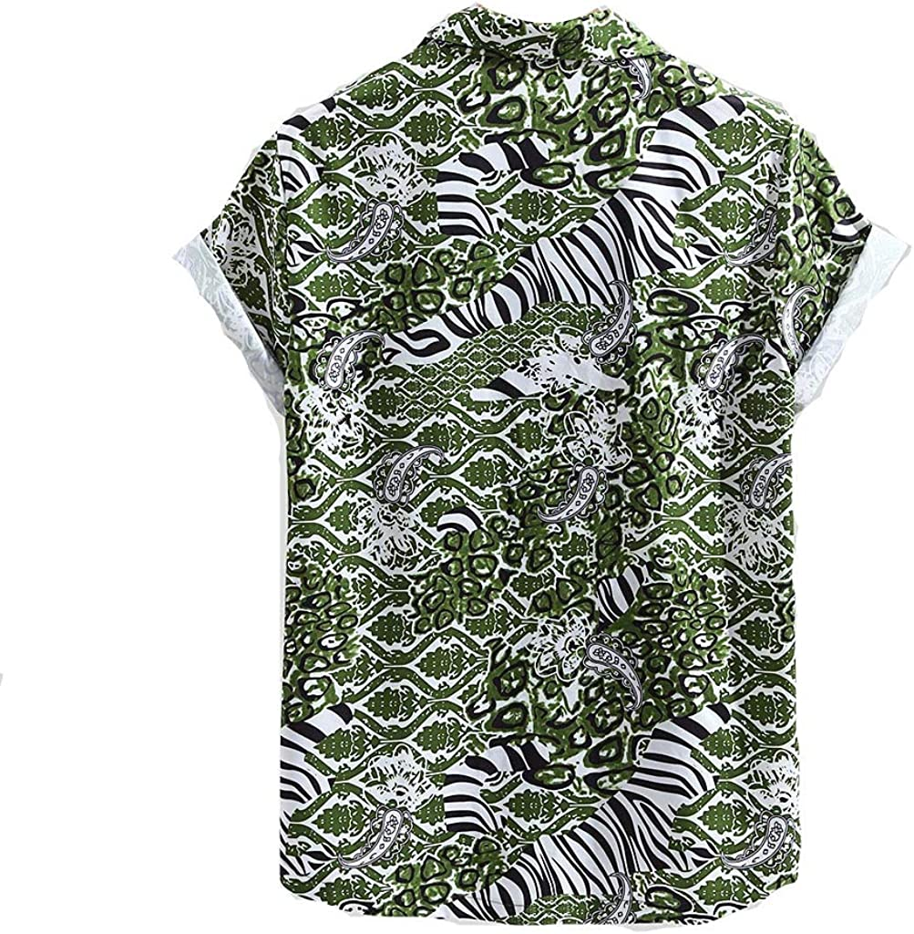XNBZW - Camiseta de Manga Corta para Hombre, diseño de Leopardo Verde Verde XXL: Amazon.es: Ropa y accesorios