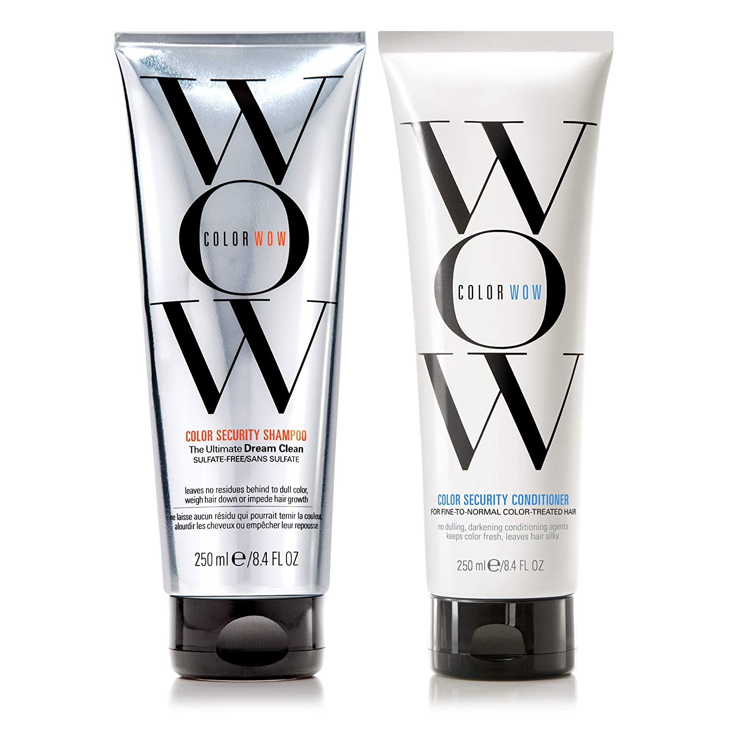 COLOR WOW Color Security Shampoo and Conditioner, Fine to Normal Hair, Duo Set, Sulfate free, for Color Treated Hair, Color Safe, 8.4 fl. oz.