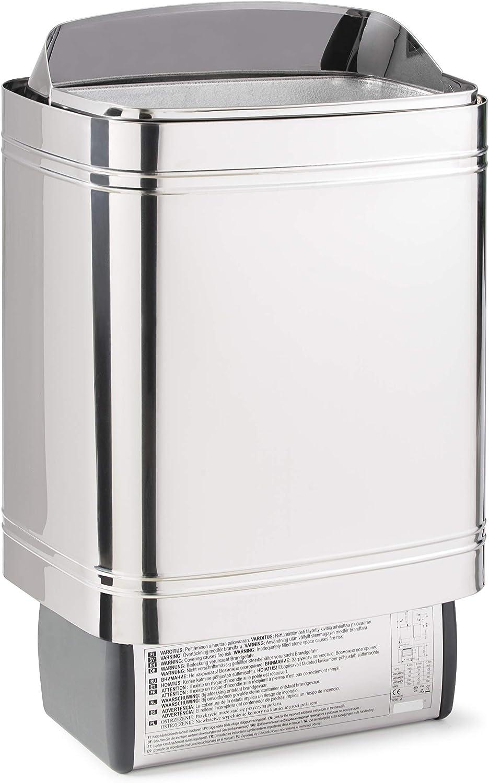 Saunaofen Nordex II 6//8 6 kW f/ür Kabine 6-8m/³ 9 kW time4wellness Saunasteuerung K2 mit Vorwahlzeit Saunasteine Ofenkabel
