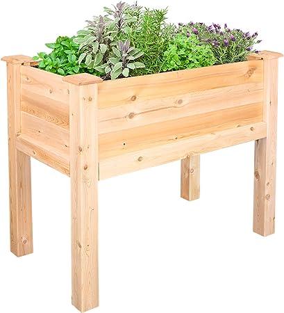 Amazon Com Greenes Fence Cedar Elevated Garden Bed 32 L X 16 W